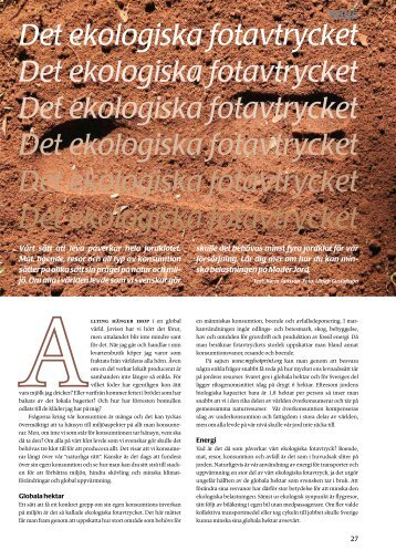 Det ekologiska fotavtrycket (pdf) - Fobo