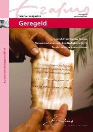 Geregeld - Erasmus School of Law - Erasmus Universiteit Rotterdam