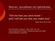 Anknytning och sex - Dagens Medicin