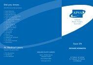 Face Lift.pdf - Adelaide Plastic Surgery Associates