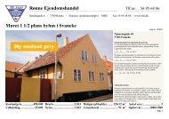 Muret 1 1/2 plans byhus i Svaneke