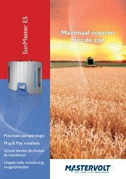 Brochure Mastervolt Sunmaster ES serie - Libra-energy.eu