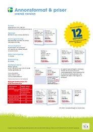 Annonsformat och prislista Svensk Camping 2013 (pdf) - SCR