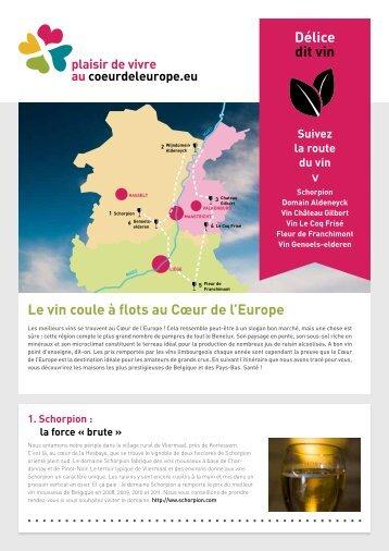 Le vin coule à flots au Cœur de l'Europe Délice dit vin - soundofc.be