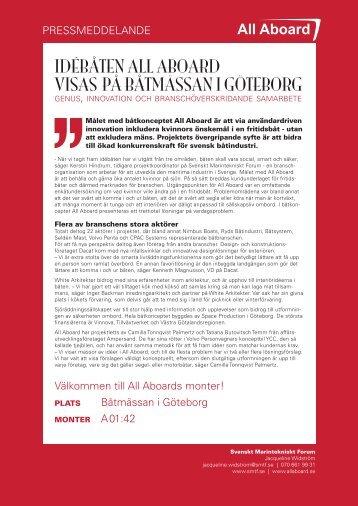idébåten all aboard visas på båtmässan i göteborg - Svenskt ...