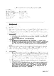 Notulen bestuursvergadering 14 maart 2013 - Samen Tussen ...
