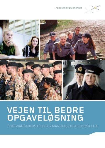 Forsvarsministeriets politik for mangfoldighed ... - kvinderiledelse.dk