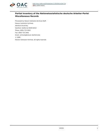Nationalsozialistische deutsche Arbeiter-Partei ... - OAC PDF server