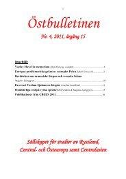 Nr 4, december 2011 - Sällskapet för studier av Ryssland, Central