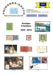 Sveriges Frimärken 1855 - 2012 - Auktionen 15 juli 2013 är avslutad