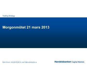 21 march 2013 (pdf) - Handelsbanken