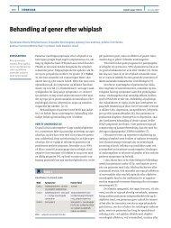 Behandling af gener efter whiplash - Ugeskrift for Læger