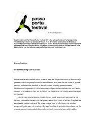 PFF2011 Roobjee De bestemming van Vulcano - Passa Porta