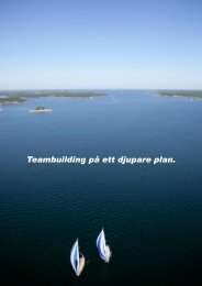 Teambuilding på ett djupare plan. - Sailing Events