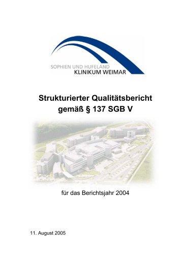 Strukturierter Qualitätsbericht 2004 - Klinikum-weimar.net