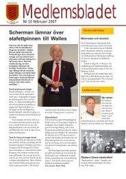 Scherman lämnar över stafettpinnen till Walles - Föreningen Gamla ...