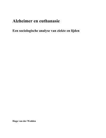 scriptie alzheimer en euthanasie.pdf - Hugo van der Wedden