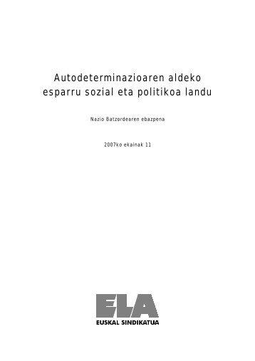 Autodeterminazioaren aldeko esparru sozial eta ... - El Diario Vasco