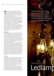 Ledlamp uit 1890; nieuw licht voor oude armaturen - Monumenten.nl