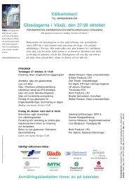 Välkommen! Glasdagarna i Växjö, den 27-28 oktober - Glafo