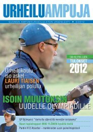 urheiluampuja 5-2012.pdf - Suomen Ampumaurheiluliitto