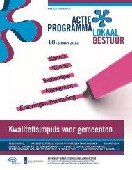 Nieuwsbrief 18 - januari 2012 (pdf) - Actieprogramma lokaal bestuur