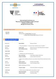 October, 25-26, 2012 Banque de France, Paris