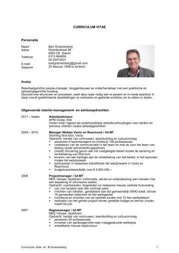 CV - APM Interim