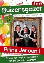Prins Jeroen I - CV De Buizers