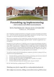 Forandring og implementering - skab resultater med effektiv ...