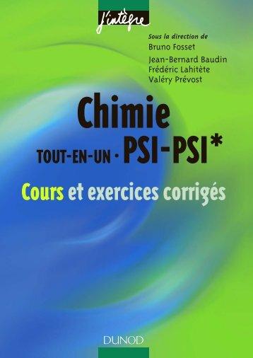 Chimie tout-en-un : PSI-PSI* - Cours et exercices corrigés - ScienceDz