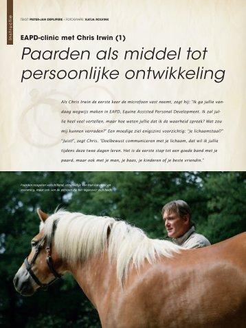 (1) Paarden als middel tot persoonlijke ontwikkeling