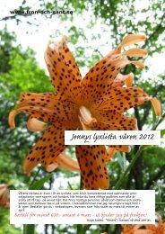 Jennys lyxlista våren 2012 Beställ för minst 600:- senast 4 mars