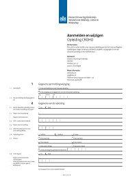 Aanmelden en wijzigen Opleiding CROHO 1 2 - DUO