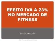 efeito a 23% no mercado do fitness - AGAP