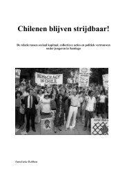 Chilenen blijven strijdbaar