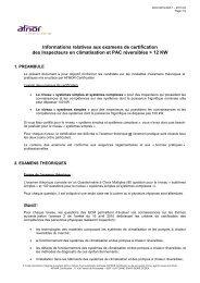 Informations relatives aux examens de certification des Inspecteurs ...