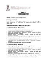 CARGO - Agente de Combate às Endemias DESCRIÇÃO SUMÁRIA ...