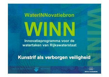 Kunstrif als verborgen veiligheid (presentatie) - Innoveren met water