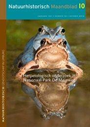 Natuurhistorisch Maandblad - Nationaal Park De Meinweg