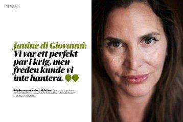 Janine di Giovanni: Vi var ett perfekt par i krig, men freden kunde vi ...