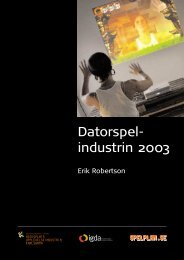 Datorspel- industrin 2003 - Nordic Game Program