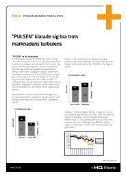 """PULSEN"""" klarade sig bra trots marknadens turbulens - HQ Bank"""