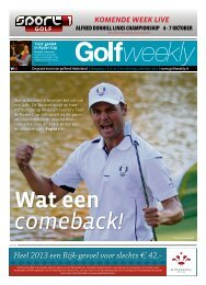 Golf Weekly 2012 editie 30