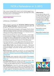2012-03 - Nordiskt centrum för kulturarvspedagogik