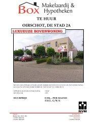TE HUUR OIRSCHOT, DE STAD 2A - Box Makelaardij