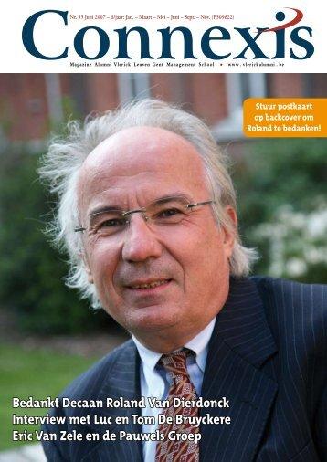 Bedankt Decaan Roland Van Dierdonck Interview ... - Vlerick Alumni