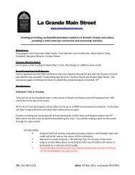La Grande Main Street