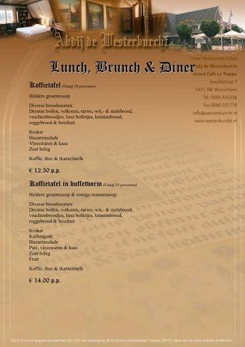 Lunch, Brunch & Diner