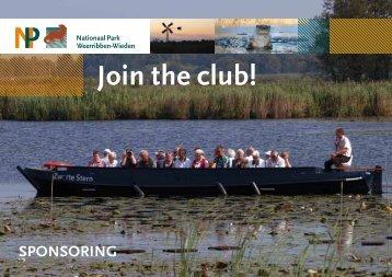 Sponsorboekje Join the Club - Nationaal Park Weerribben-Wieden